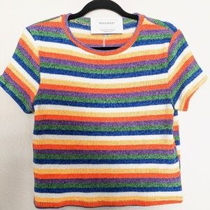 Rainbow Sweater Crop Top